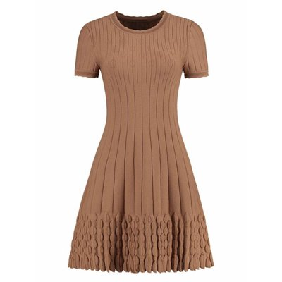 NIKKIE Jade dress camel