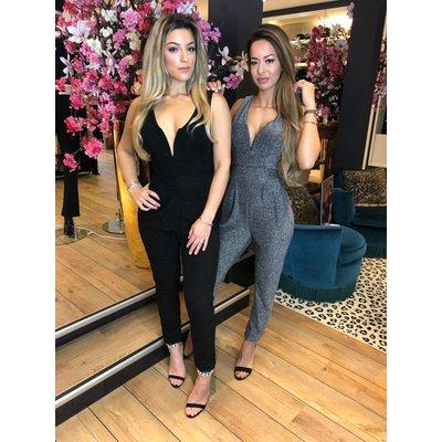 Jaimy Lara sparkle jumpsuit black