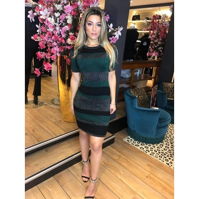 Jaimy Anastacia sparkle dress petrol