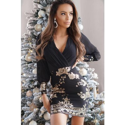Jaimy Kate Dress Black/Gold