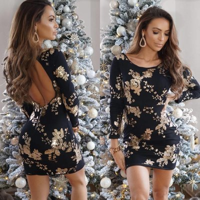 Jaimy Exclusive kate dress black/gold