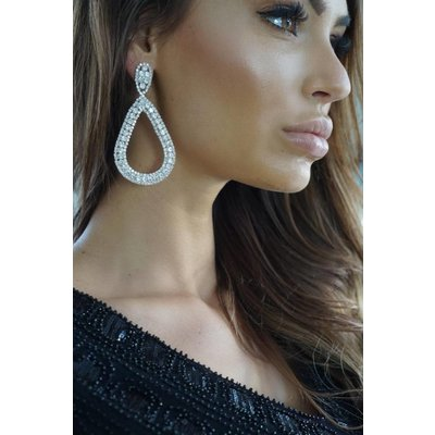 Jaimy Champagne earrings silver