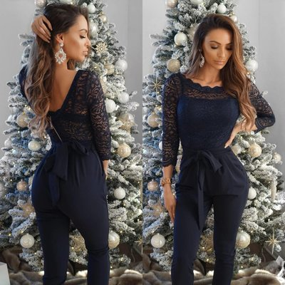 Jaimy LACE 2 ways to wear jumpsuit midnight blue
