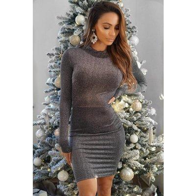 Jaimy Lola sparkle dress grey