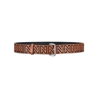 NIKKIE N logo all over belt