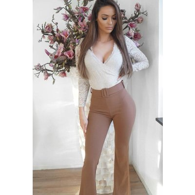 Jaimy Flair included belt pants nude