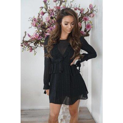 Jaimy Ruffle chic dress black