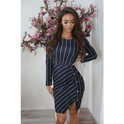Jaimy Alexa dress black stripe