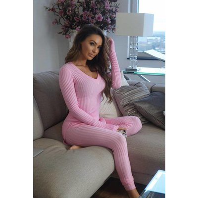 Jaimy Lounge wear 2 piece set prism pink