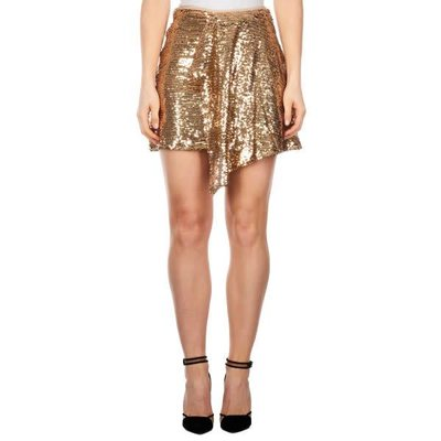 Reinders Skirt sequins gold