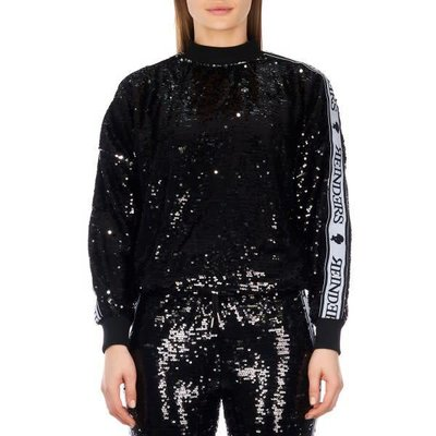 Reinders tracking sweater sequins true black/silver