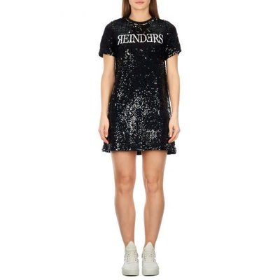 Reinders Dress sequins true/black white