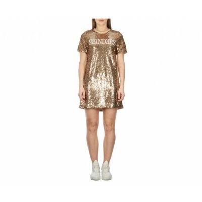 Reinders Dress sequins gold/white