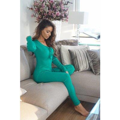 Jaimy Feline bow 2 piece set alhambra green