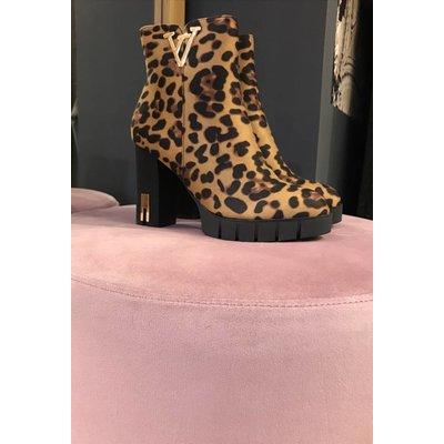Jaimy LEOPARD Queen heels Suedine