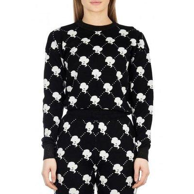 Reinders Sweater LOGO MANIA true black white