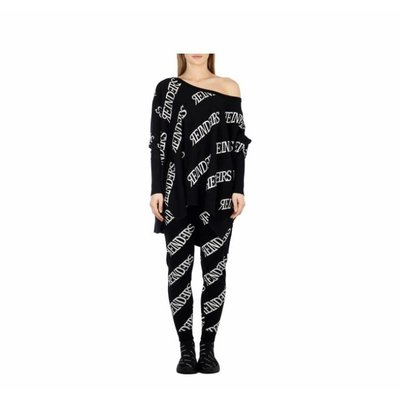 Reinders Loesje knitwear ALL OVER true black white