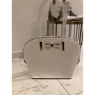 Jaimy Julie big shopper bag white