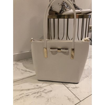 Jaimy Julie shopper bag white