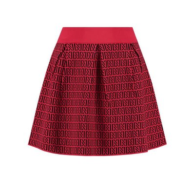 NIKKIE Perfect logo skirt Black/Racing Red