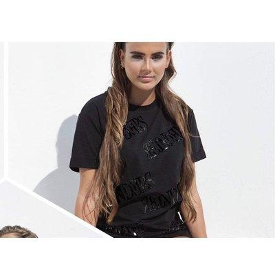 Reinders T-shirt ALL OVER sequin BLACK BLACK