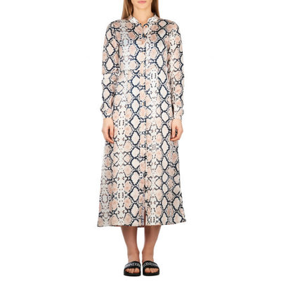 Reinders Blouse dress LONG SNAKE BLOODY  CREME