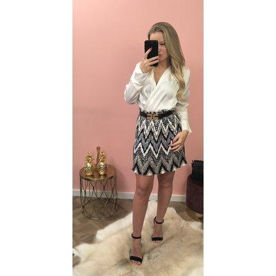 Jaimy Marbella PLISSE skirt BLACK