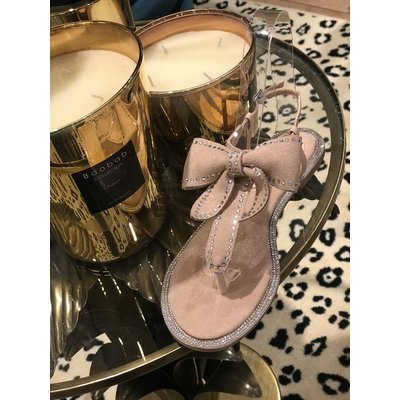 Jaimy Diamond bow sandals PINK