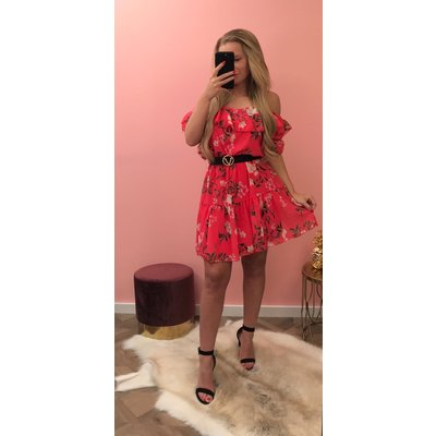Jaimy Blossom dress red coral