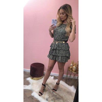 Jaimy Lola TIGER dress ARMY GREEN