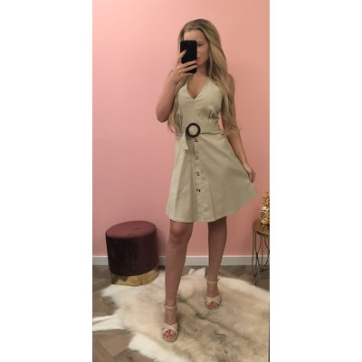 Jaimy Blog included belt dress beige