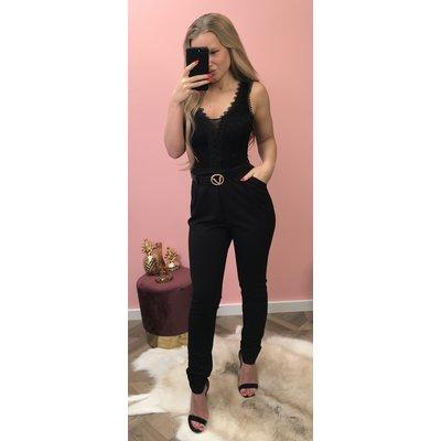 Jaimy Madelief jumpsuit BLACK