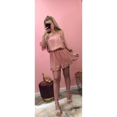 Jaimy Laurence lurex dress OLD PINK