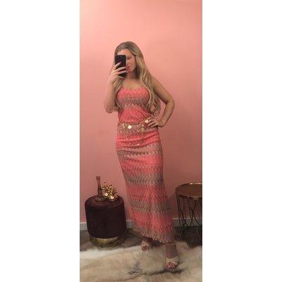 Jaimy Miss one maxi dress melon orange