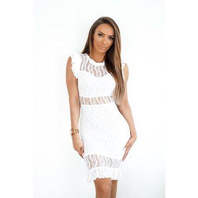 Jaimy Limited babe dress WHITE