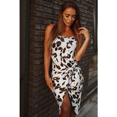 Jaimy Lola leopard WRAP dress WHITE
