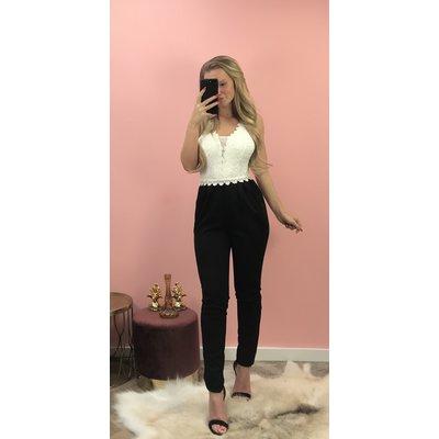 Jaimy Madelief jumpsuit BLACK WHITE