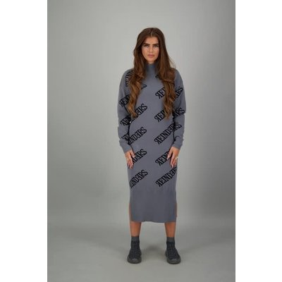 Reinders Reinders ALL OVER dress METAL GREY/BLACK
