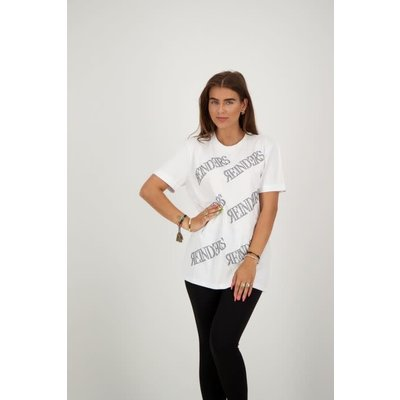 Reinders T-shirt ALL OVER WHITE/BLACK