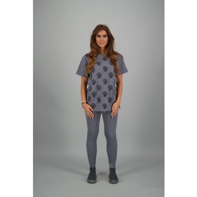 Reinders T-shirt LOGOMANIA DIAMONDS METAL GREY