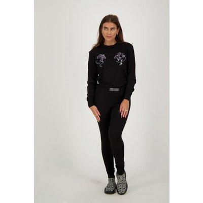 Reinders HEADLOGO sweater sequin BLACK