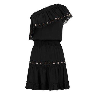 NIKKIE Reza Ruffle dress black