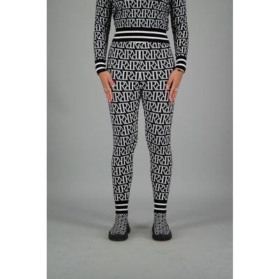 Reinders RR print PANTS TRUE BLACK/WHITE