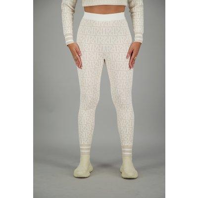 Reinders RR print PANTS CREME/WHITE