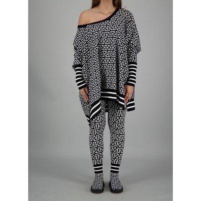 Reinders Loesje knitwear RR print black