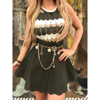 Jaimy Missany lurex top ARMY GREEN