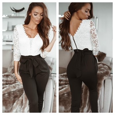 Jaimy Madelief 2 ways to wear jumpsuit BLACK/WHITE
