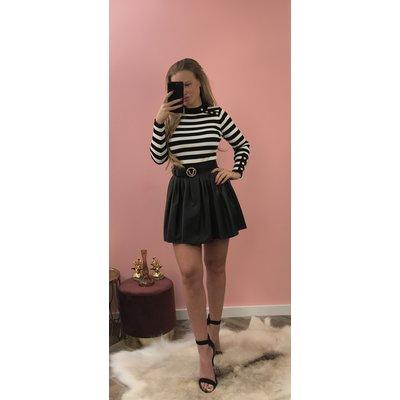 Jaimy Leather look skirt BLACK