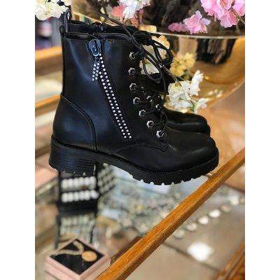 Jaimy Zipper diamond boots