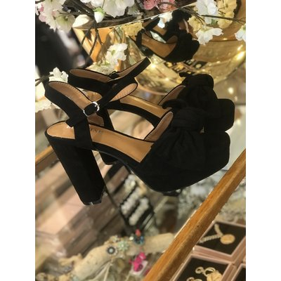 Jaimy Romantic bow heels BLACK